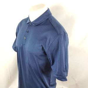 Nike Golf Mens Polo Shirt Sz Small S/S Solid Blue